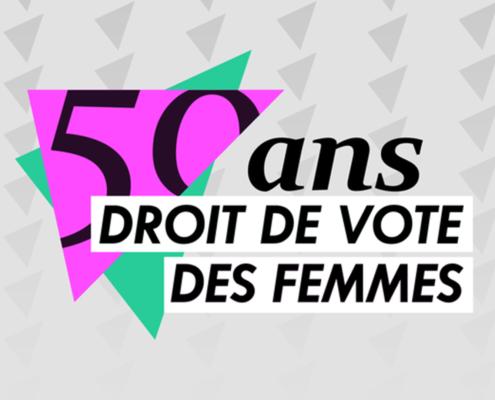 50 ans du droit de vote des femmes